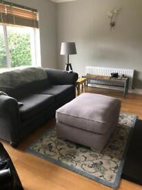 Large Grey Footstool