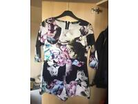 missguided floral playsuit, size 12