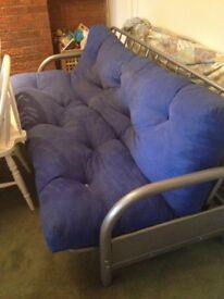 Double futon bed settee