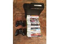 Xbox 360 + controllers + 21 games
