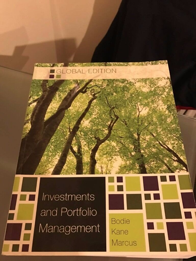 Investments and Portfolio Management textbook from Bodie Kane Marcus