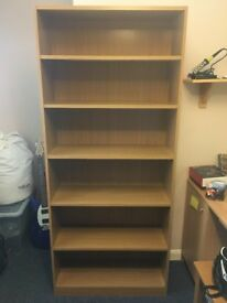 Tall 6 shelf bookcase
