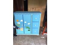 Childrens wardrobe and drawers (all in one combination) frog theme