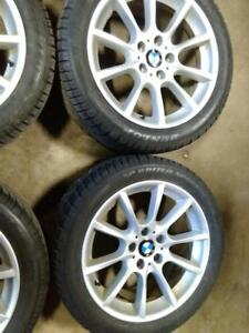 """18"""" BMW 5 AND 6SERIES WINTER PACKAGE SET,5X120FACTORY  RIMS WITH 245/45R18 DUNLOP SP WINTER SPORT RUN FLAT USED FOR SALE"""
