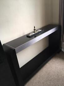Black solid console table / sideboard
