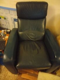 Leather Armchair Dark Green and very Comfortable