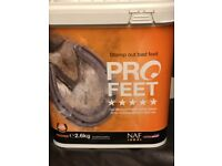 NAF PRO FEET powder for improved hoof growth in horses