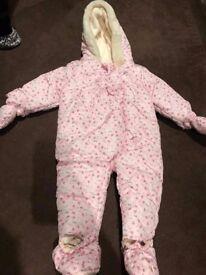Nutmeg 12-18mths snow suit