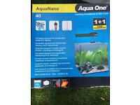 Fish tank with cabinet full set up