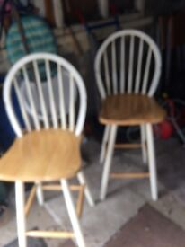 Two barstools £10