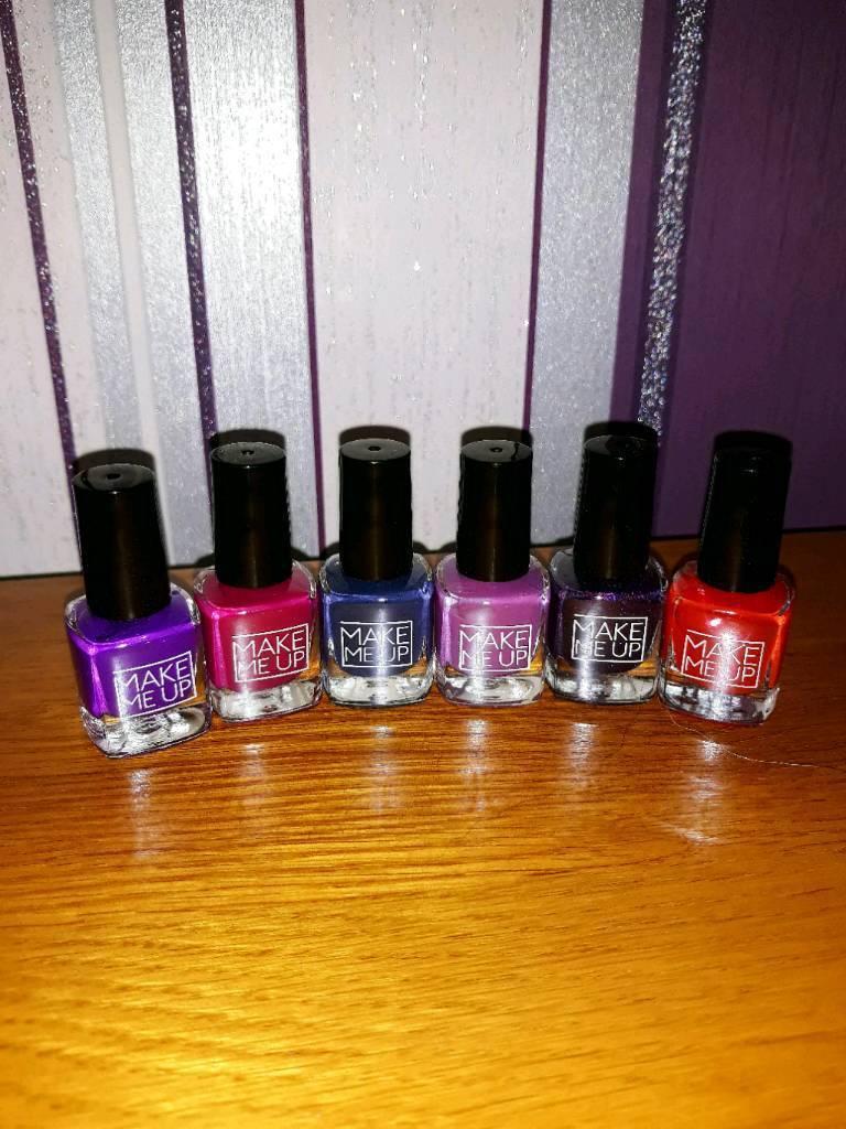 6 Brand new make me up nail polish