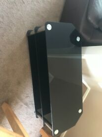 Large glass tv stand open to offers