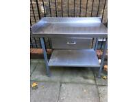 Catering/Kitchen table - stainless steel