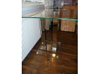 Square Glass Dinning Table (only) As New immaculate condition