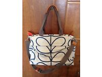 Orla Kiely Linear Stem baby changing bag/tote