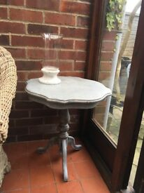 Grey shabby chic side table