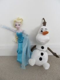 Disney Frozen Elsa Singing Doll & Pull Apart and Talking Olaf