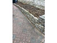 Limestone brick / stone wall