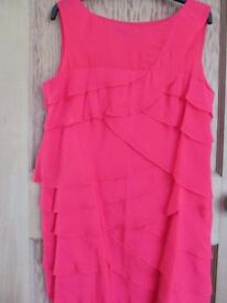 Coast – Coral Dress – Size 14 (100% Silk)
