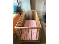 Ikea Cot bed for sale, very good condition. Mattress included