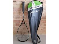 Browning NanoTec CTi 140 Squash Racket - Black, Green & White