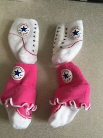 Girls converse socks 0-3