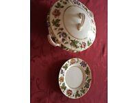 Royal Worcester Dinner Service Design, Virginia. 3 sizes of plates, platters, gravy boat, jug & veg