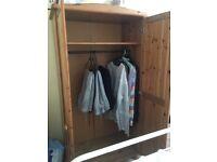 Large Pine Wardrobe. Brilliant Condition