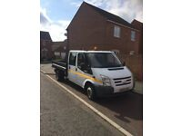 FORD TRANSIT CREW CAB TIPPER 07 REG LONG MOT TAXED READY FOR WORK NICE CLEAN TRUCK
