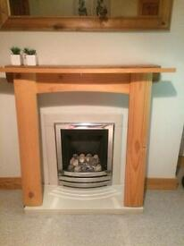 Natural pine fireplace/surround small size