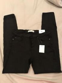 New ladies Zara Black jeans size 14