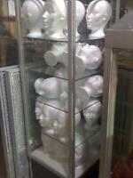 FOAM DISPLAY HEADS RECYCLED DISPLAYS MANNEQUINS
