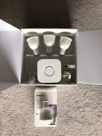 Philips Hue White & Color Ambience Starter Kit GU10 + Extra GU10 Bulb + Hue Tap Switch