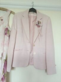 Pink wedding outfit and accessories size 12