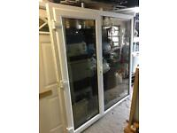 White Upvc Patio doors Superb Used Condition Toughened Glass