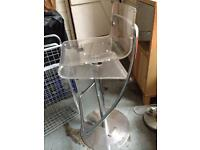 Two retro modern Bar / breakfast bar stool