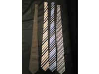 4 silk ties - designer - luxury