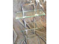 3 Tier Glass Wall Shelf Unit (Used)