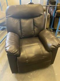 LEATHER SOFA ARMCHAIR RECLINER IN GOOD CONDITION