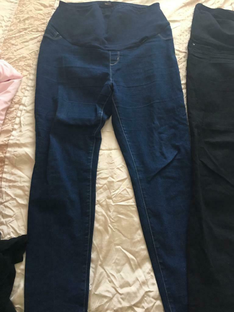c9ddef82bbccf Size 16-18 maternity clothing bundle. 2 x maternity jeans from George & 2 x  tops from mothercare