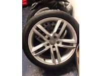 AUDI A4 S/LINE ALLOY WHEELS AND TYRES