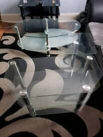 Glass table set