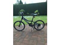 Boys black Giant mountain bike