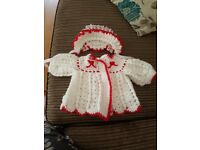 Never been worn handmade baby girls cardi