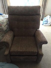Free comfortable recliner armchair