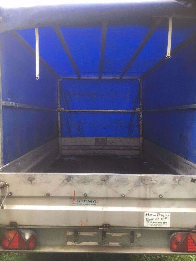 STEMA HEAVY DUTY BRAKED 1500KGS PAYLOAD 8FT x 4FT CANOPY TRAILER