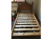 Real wood single bed farme
