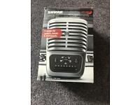 Shure Mv51 usb studio condenser microphone brand new boxed with mic stand !