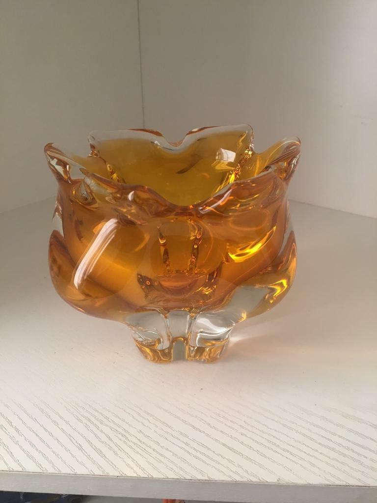 Orange glass ornament