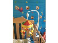 Baby cot bed soft musical toy